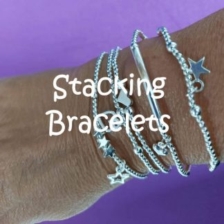 Silver plated stacking bracelets